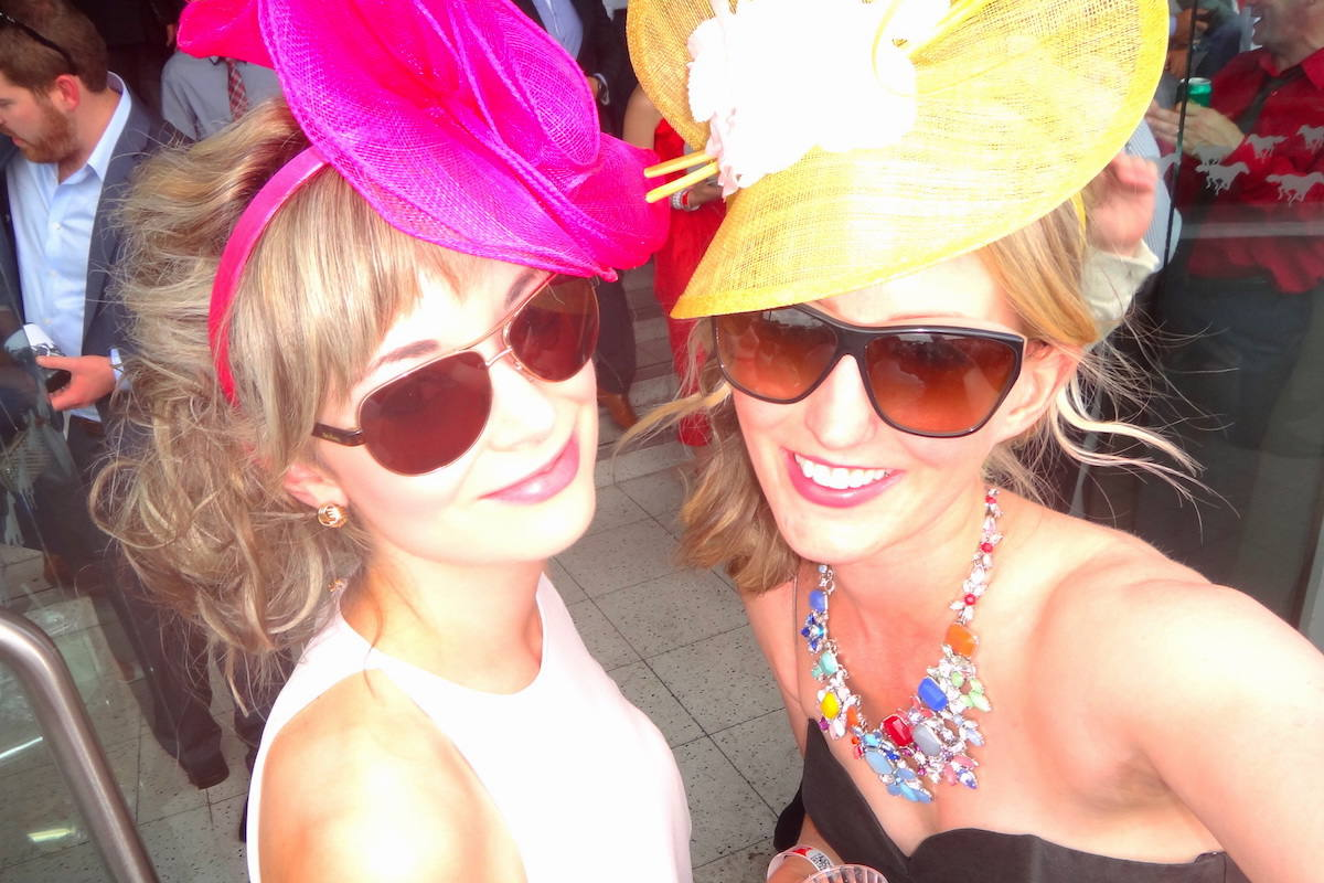 In our Melbourne Cup outfits