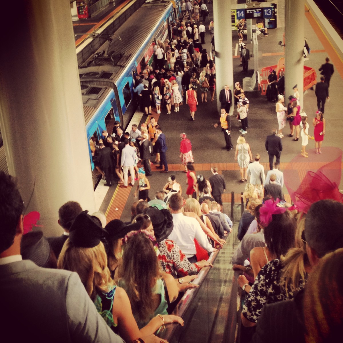 Spencer Street Station on Melbourne Cup Day