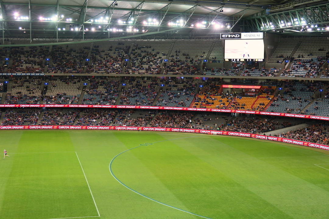 The five-kilometre walk from Prahran to Etihad Stadium