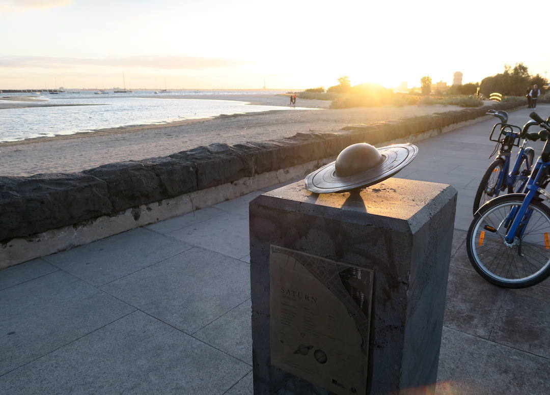 The St Kilda to Port Melbourne solar system coastal walk