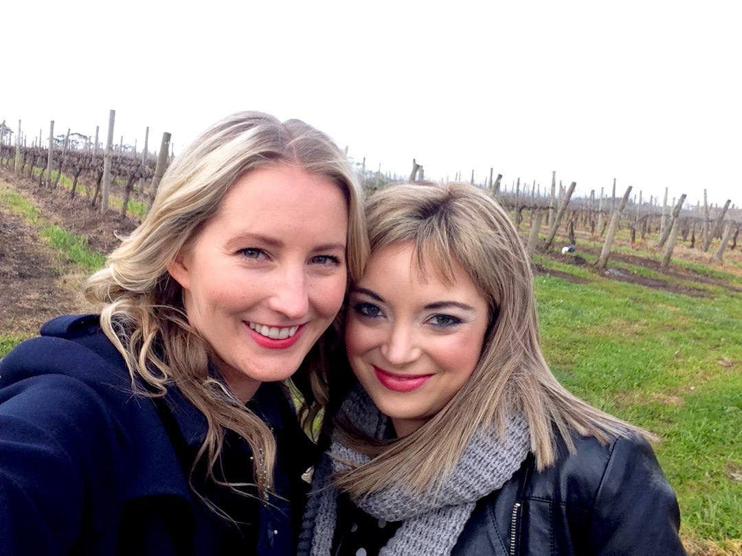Alison and I vineyard selfie, Yarra Valley wine tour