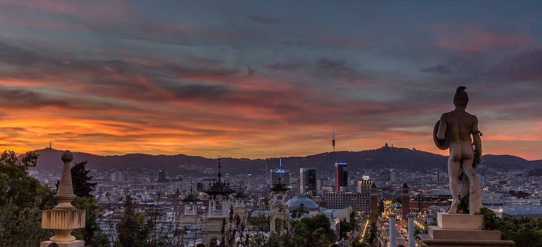 bucket list travel destinations, Sunset, Barcelona, Spain