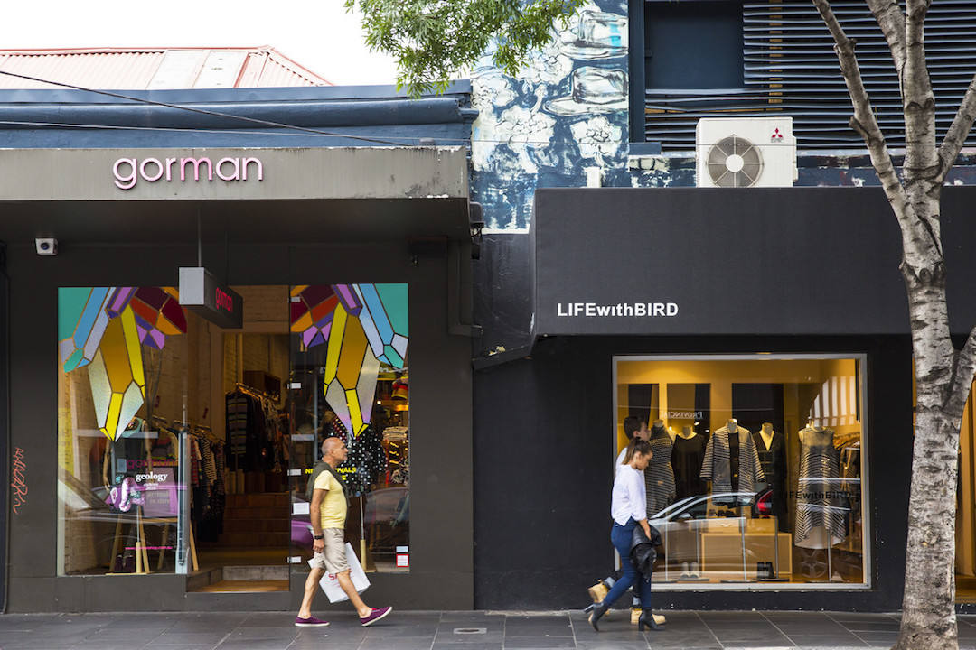 Shop exteriors on Chapel Street South Yarra