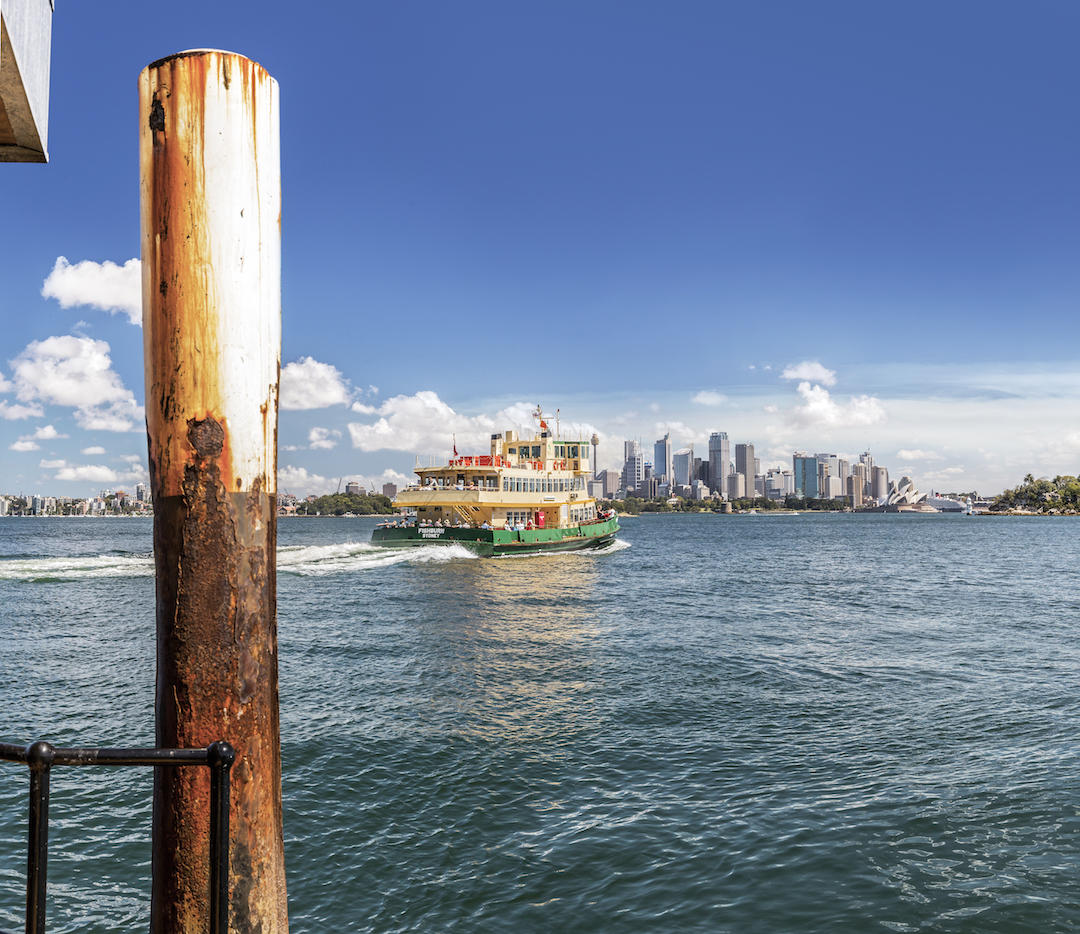 The ferry 'Fishburn' leaves Taronga Zoo wharf bound for Sydney