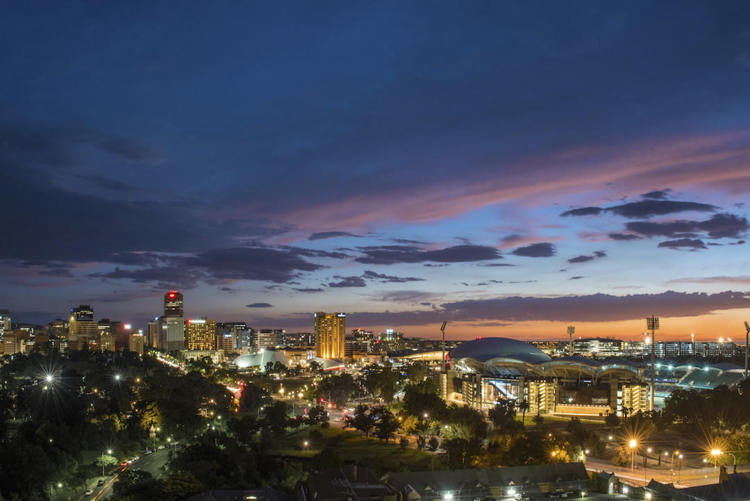 Adelaide city skyline, South Australia