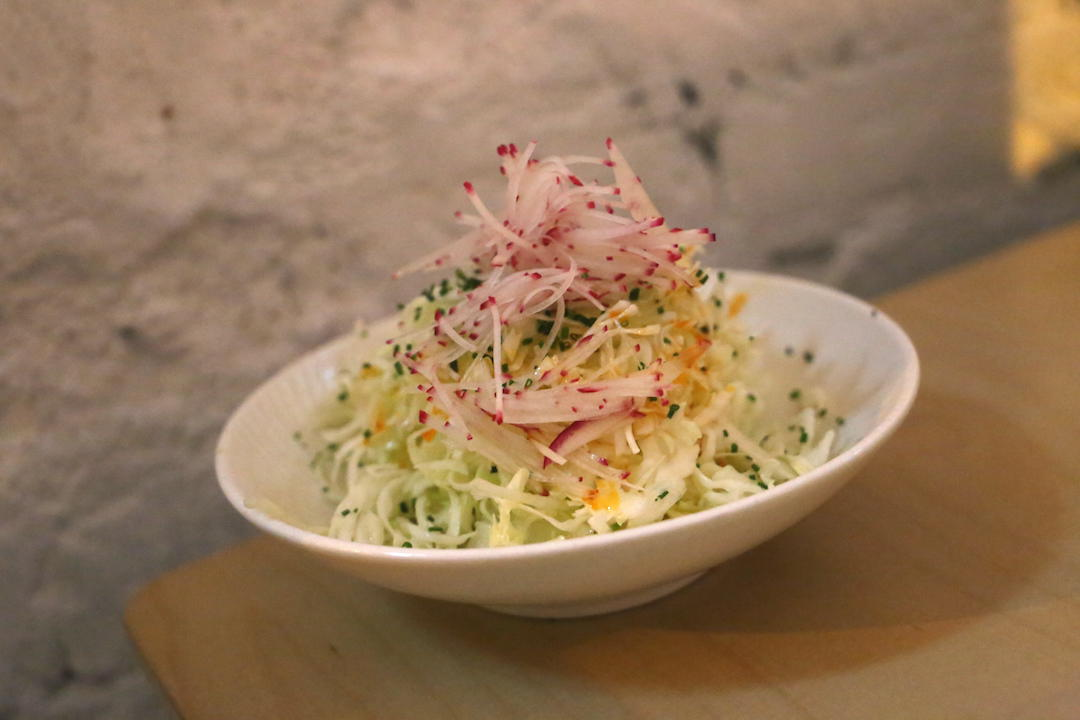 Cabbage and ginger salad, Cho Cho San, Potts Point, Sydney