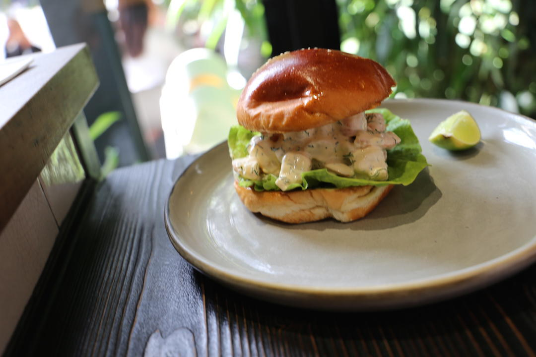 Prawn burger, Top Paddock, Church Street, Richmond, Melbourne