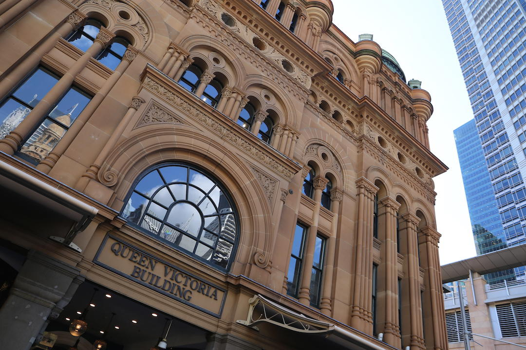 A free walking tour of Sydney, Queen Victoria Building, QVB, Sydney