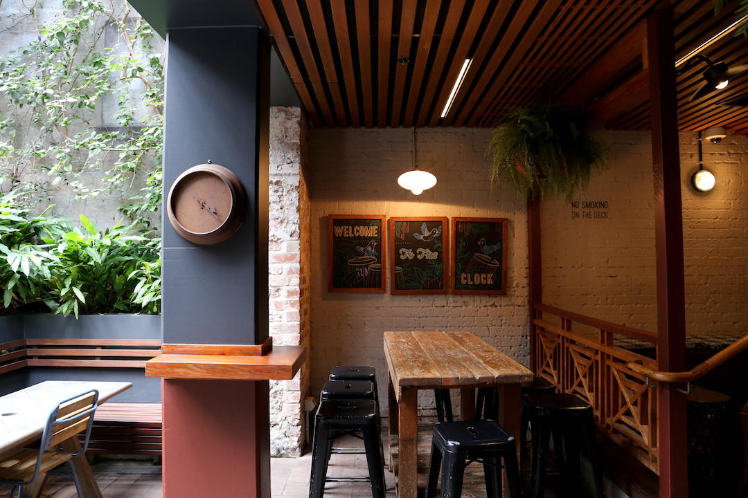 Beer garden, The Clock Hotel, Crown Street, Surry Hills, Sydney