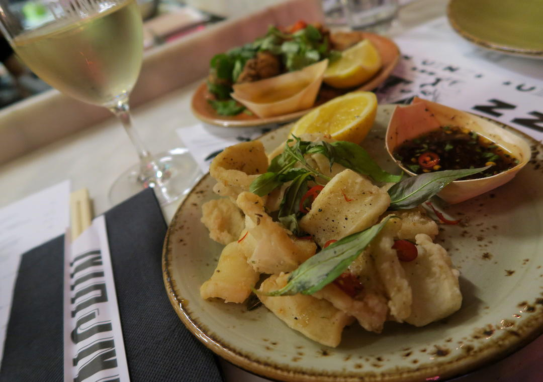 Salt and pepper squid, Chin Chin, Flinders Lane, Melbourne