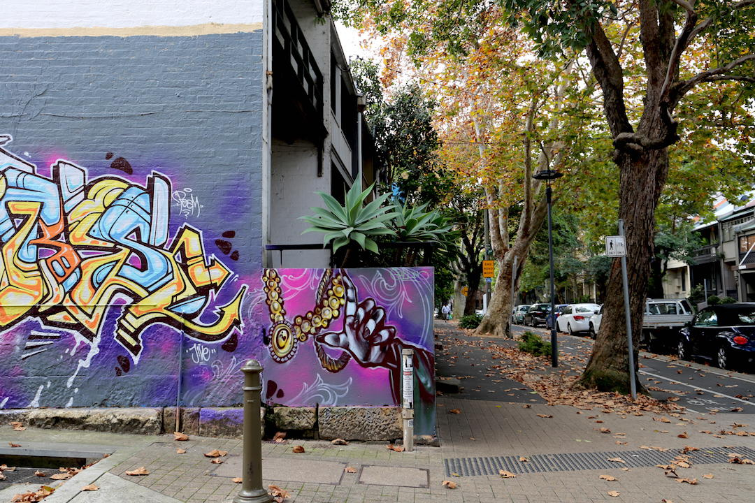 Street art, Bourke Street, Surry Hills, Sydney