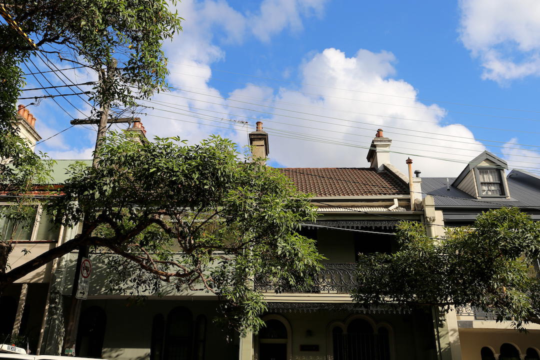 Terrace houses, Albion Street, Surry Hills, Sydney