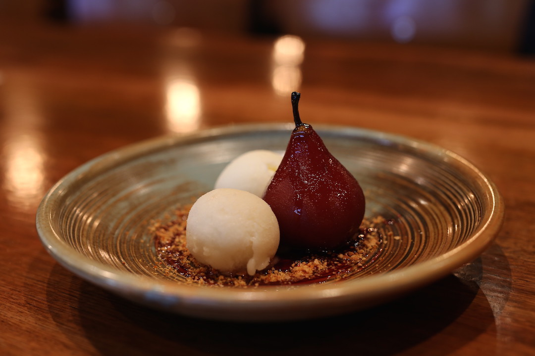 Pear dessert, Press Food and Wine, Waymouth Street, Adelaide