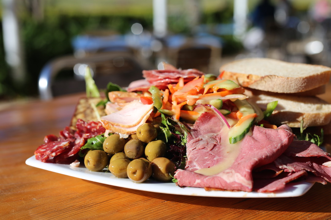 Meat and cheese platter, Lovedale Smokehouse, Lovedale, Hunter Valley