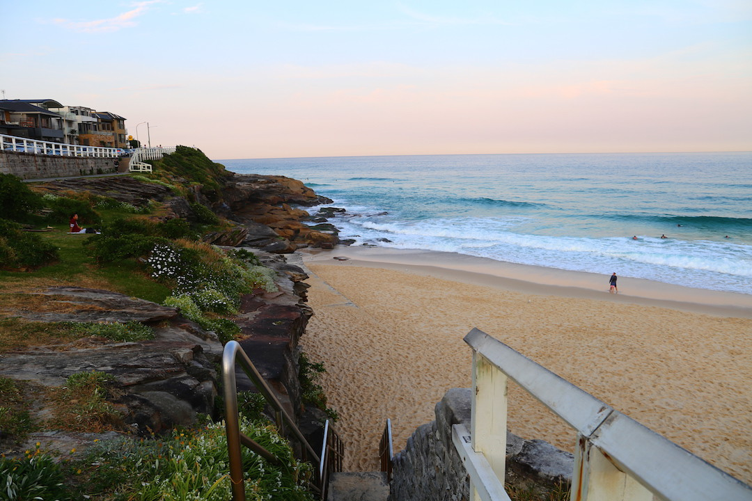 Northern end of Bronte Beach, Sydney, New South Wales