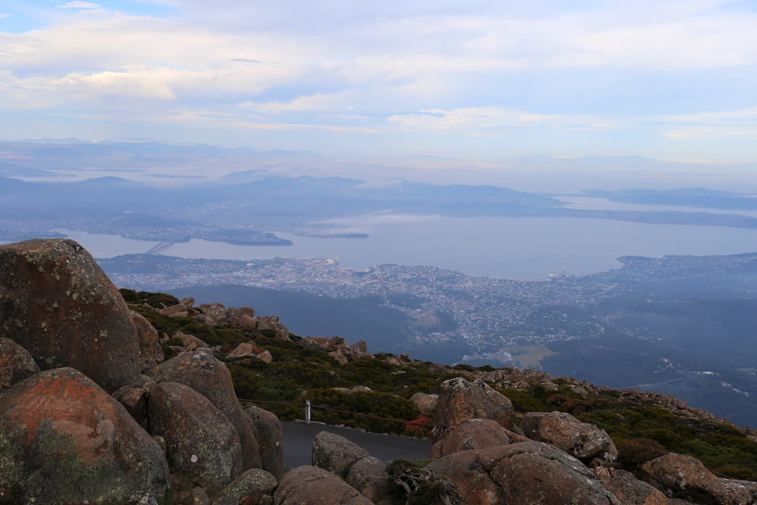 View from Mount Wellington, Hobart, Tasmania