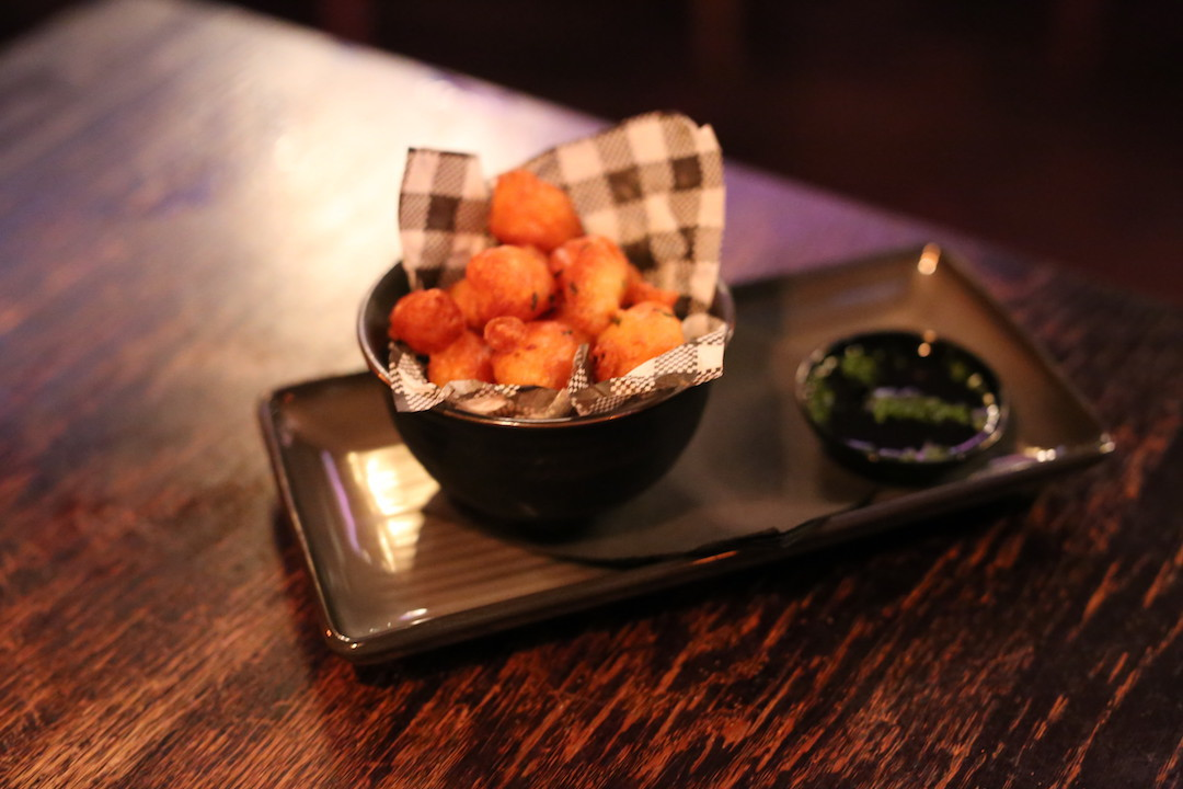 Prawn popcorn, The Smoking Panda, Park Street, Sydney