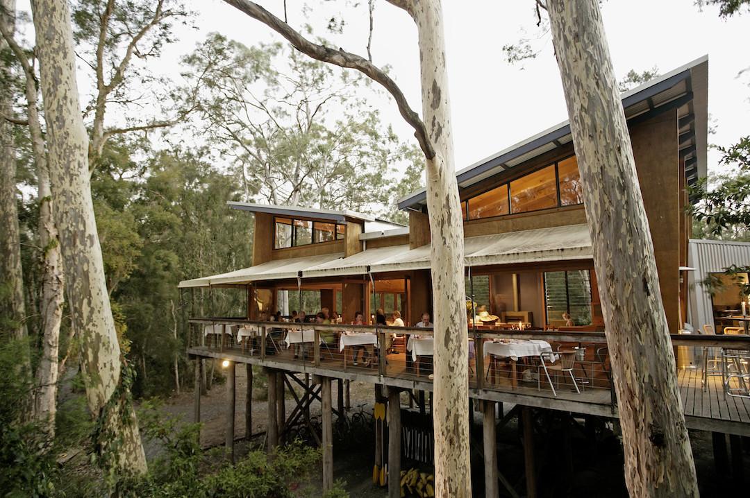 The Gunyah Restaurant at Paperbark Camp, Jervis Bay, South Coast, New South Wales