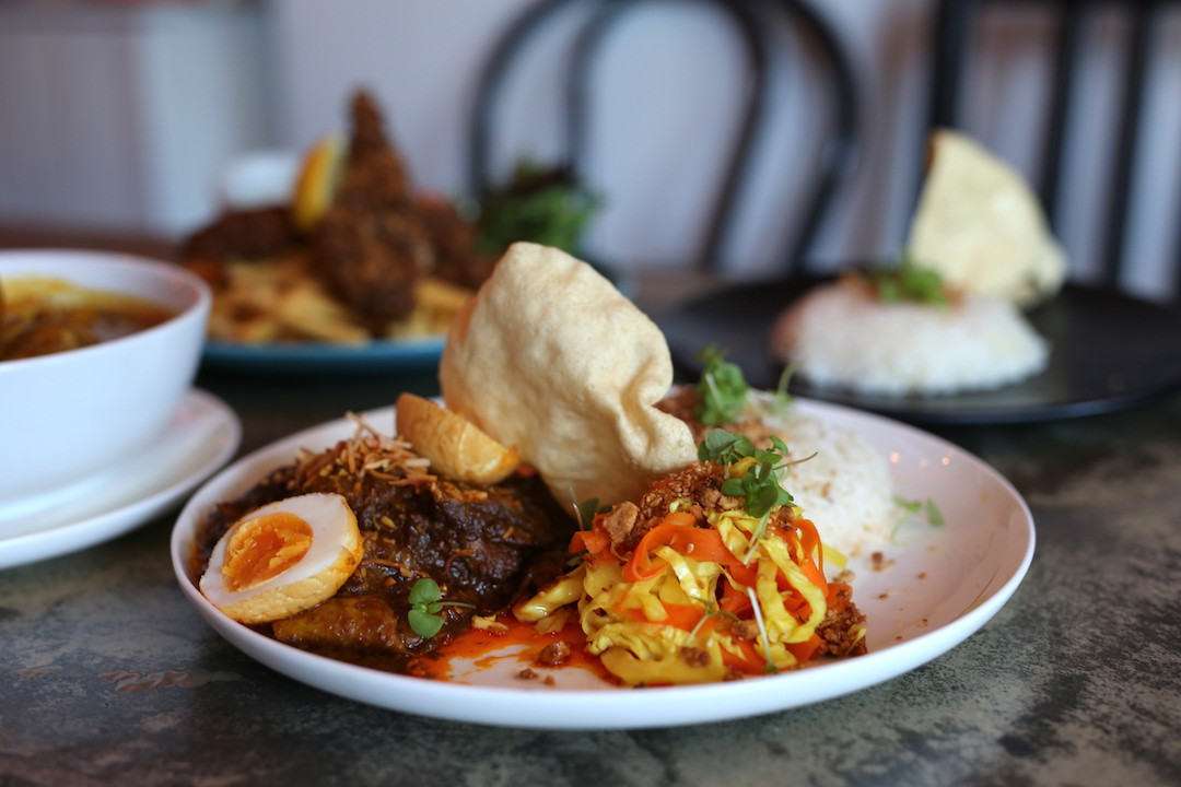 Beef rendang and rice, Rumpus Room, Darlinghurst, Sydney