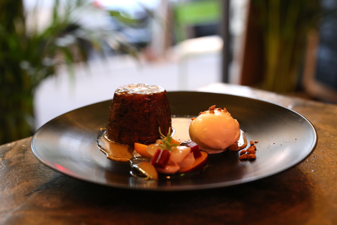 Durian and date pudding, Rumpus Room, Darlinghurst, Sydney