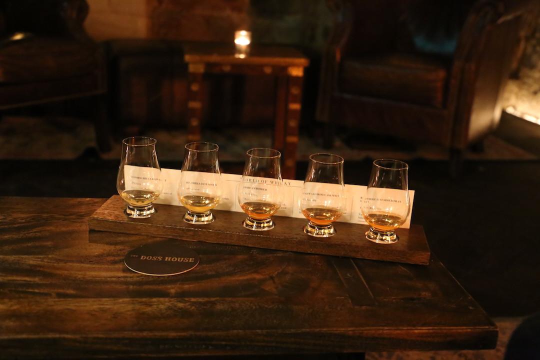 whisky flight, The Doss House, The Rocks, Sydney