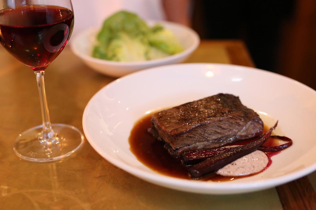 Beef ribs and lettuce, Arthur restaurant, Surry Hills, Sydney