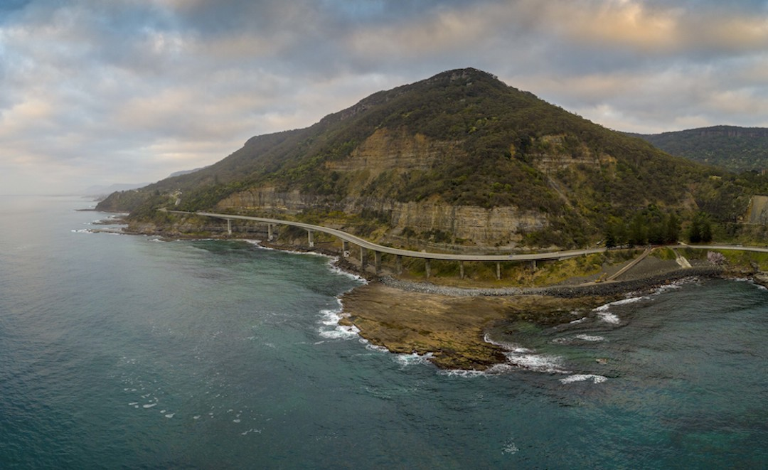 Easter road trips, Sea Cliff Bridge, Clifton, New South Wales