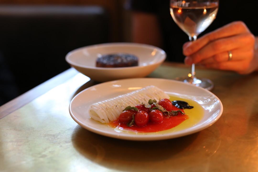 Squid and potato, Arthur restaurant, Surry Hills, Sydney