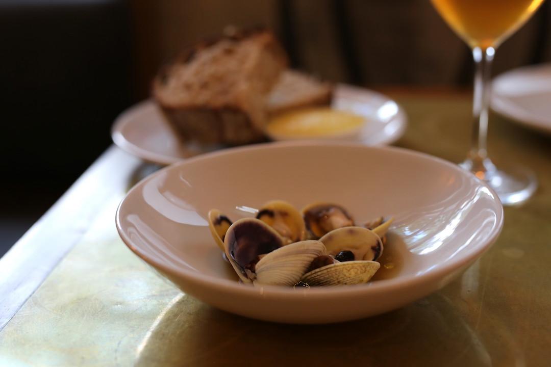 Vongole and sourdough, Arthur restaurant, Surry Hills, Sydney